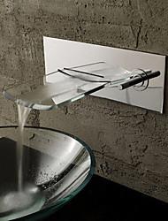 baratos -Projeto de vidro Cachoeira torneira pia do banheiro especial Contemporânea
