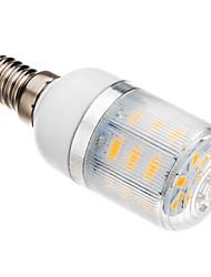 3W E14 LED-kolbepærer T 24 leds SMD 5730 Varm hvid 150-200lm 2500-3500K Vekselstrøm 220-240V