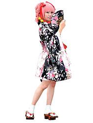 baratos -Wa Lolita Mulheres Roupa Cosplay Floral Manga Longa Lolita Trajes da Noite das Bruxas