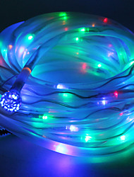 economico -Multicolor Solar Powered Tubo corda 100 LED String lampada Garden Party Decor