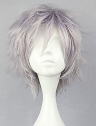 cheap -Cosplay Wigs Final Fantasy Hope Estheim Silver Short Anime/ Video Games Cosplay Wigs 32 CM Heat Resistant Fiber Male