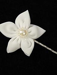 Elegant Chiffon With Pearl Women's Corsage Brooch Elegant Style
