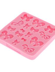 3d бантом помады торт силиконовая форма, шоколадные конфеты формы, формы для выпечки (случайный цвет)