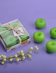 cheap -Beautiful Green Apple Candle (set of 4) Elegant Wedding Favors