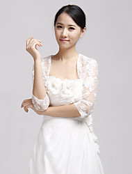 Wedding  Wraps Coats/Jackets Half-Sleeve Lace White Wedding / Party/Evening Bell Open Front