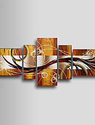 Hand-Painted Abstract Five Panels Canvas Oil Painting For Home Decoration