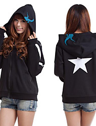 Inspired by Vocaloid Black Rock Shooter Video Game Cosplay Costumes Cosplay Hoodies Print Black Long Sleeve Coat