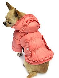 Hunde Mäntel / Kapuzenshirts Rosa Hundekleidung Winter einfarbig