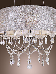 cheap -Chandelier ,  Modern/Contemporary Drum Electroplated Feature for Crystal Metal Living Room Bedroom Dining Room