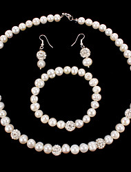 cheap -Women's Pearl Rhinestone Wedding Party Special Occasion Anniversary Birthday Gift Earrings Necklaces Bracelets