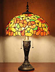 Недорогие -Настольная лампа, 2 Свет, изысканные Смола Тиффани стекла картины