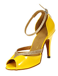 "Scarpe da ballo - Disponibile ""su misura"" - Donna - Latinoamericano / Sala da ballo - Customized Heel - Eco-pelle - Giallo"