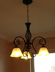 Rustic/Lodge Candle Style Chandelier Ambient Light For Bedroom Kitchen Dining Room 110-120V 220-240V Bulb Not Included
