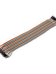 40Pin 1P-1P Male to Female Dupont Line Colorful Dupont Wire(30CM)
