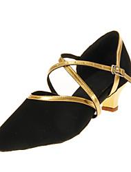 Može se prilagoditi - Ženske - Plesne cipele - Moderni plesovi / Balska sala - Koža - Prilagođeno Heel - Crn