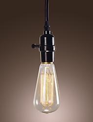 40W traditionelle / klassiske / vintage mini stil / pære inkluderet vedhæng lys spisestue / kontor
