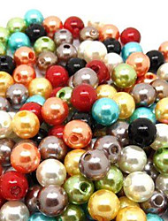 cheap -Cute Round Multicolor Imitation Pearl DIY Beads(500 Pcs/Lot)(Random Color)