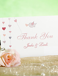 """Cartão Raso Convites de casamento-Cartões de Obrigado Estilo Clássico Papel Pérola 3 ½"""" x 5"""""""