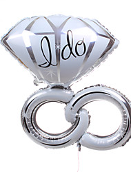 Wedding Décor Silver Diamond Ring Metallic Balloon
