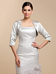 Satin Wedding Party Evening Casual Wedding  Wraps With Beading Sequin Coats / Jackets