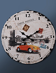 "23""H Carte Postale Of NY City Metal Wall Clock"