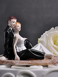 """toppers torta """"momento romantico sulla spiaggia"""" cake topper"""