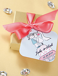 Personalized Favor Tags - Kissing (set of 36) Wedding Favors Beautiful