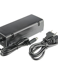 cheap -XBOX 360E AC Adapter (US Plug) Wired Black Plastic 1 Adapter, 1 Cable