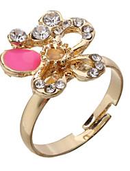 Women's Butterfly Flower Golden Plated Adjustable Ring(Random Color)