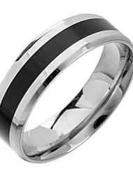 Недорогие -Кольца Повседневные Бижутерия Титановая сталь Классические кольца8 Черный / Серебряный