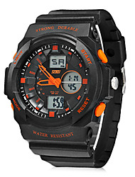 Men's Multi-Function Analog-Digital Round Dial Rubber Band Wrist Watch (Assorted Colors) Cool Watch Unique Watch