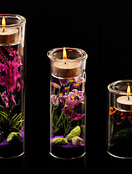 Wedding Décor Miniascape Candle Holder (More Size,Candle and Flower Included)