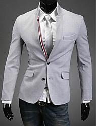 cheap -Men'S Contrast Color Luxury Stand Collar Suit