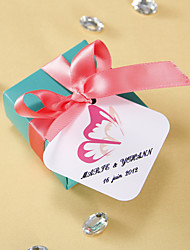 cheap -Personalized square tags - Butterfly Wing (set of 36) Wedding Favors