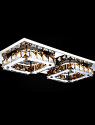UMEI™ LED Crystal Flush Mount, 2 Light, Modern Amber Electroplating Stainless Steel