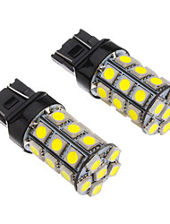 2Pcs T20 7443 27x5050SMD 100-250LM White Light LED Bulb for Car (12V)