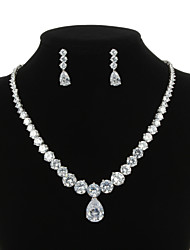 cheap -Women's Cubic Zirconia Jewelry Set Include Earrings Necklaces - For Wedding Party Special Occasion Anniversary Birthday Engagement Gift