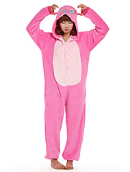 cheap -Kigurumi Pajamas Blue Monster / Monster Onesie Pajamas Costume Flannel Toison Cosplay For Adults' Animal Sleepwear Cartoon Halloween