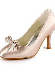 cheap -Women's Shoes Stretch Satin Satin Spring Summer Stiletto Heel for Wedding Party & Evening Pink Silver Blue Gold Purple