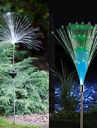 cheap -1-LED Colorful Light LED Solar Light Fiber Optic Light Fountain Garden Stake