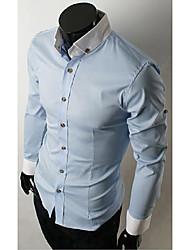 Herre - Ensfarvet Skjorte