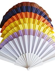 Solid Color Polypropylene Fiber Hand Fan - Set of 4 (More Colors)