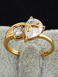 Bakke Kvinders 18K Zircon Ring (J28294)