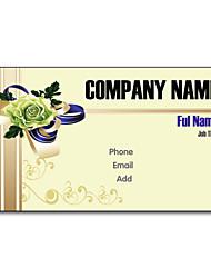 Недорогие -200шт персонализированные 2 Стороны Отпечатано Матовая пленка Цветная капуста Pattern Визитная карточка