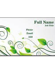 Недорогие -200шт персонализированные 2 Стороны Отпечатано Матовая пленка Листья Pattern Визитная карточка