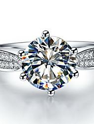 Ringe Dame Diamant Sølv / Sterling Sølv / Platin Belagt Sølv / Sterling Sølv / Platin Belagt Kærlighed 5 / 6 / 7 / 8 / 8½ / 9 / 9½ Klar