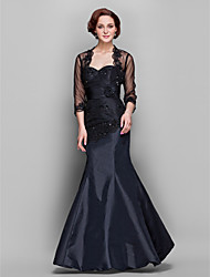 Mermaid / Trumpet Sweetheart Floor-length Taffeta Tulle Mother of the Bride Dress with Wrap by LAN TING BRIDE®