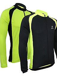Arsuxeo Cycling Jersey Men's Bike Jersey Jacket Tops Thermal / Warm Quick Dry Front Zipper Breathable Sweat-wicking Spandex Polyester