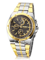 cheap -Men's Wrist watch Quartz Casual Watch Alloy Band Charm Silver Gold