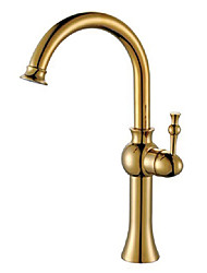 cheap -Country Vessel Rotatable Ceramic Valve One Hole Single Handle One Hole Antique Brass, Bathroom Sink Faucet